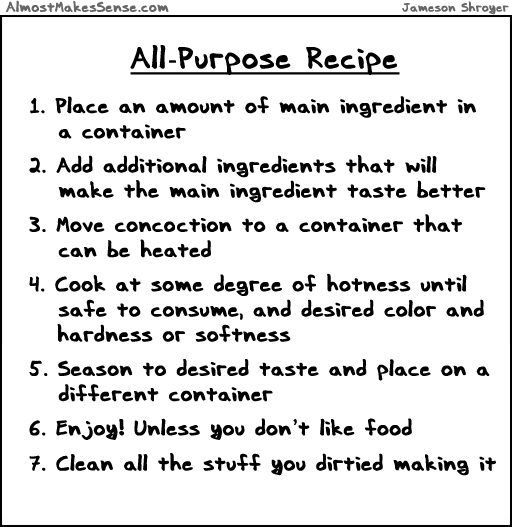All Purpose Recipe