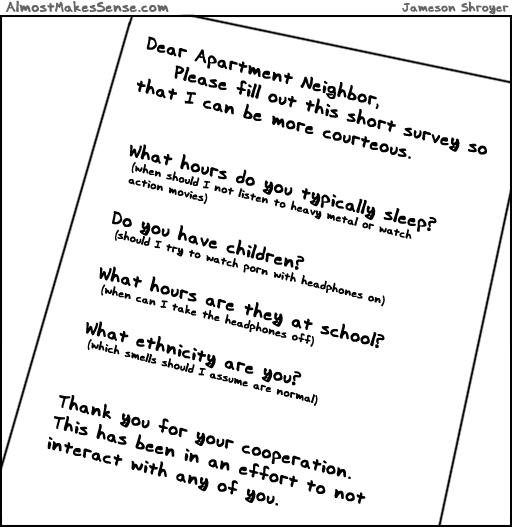 Dear Apartment Neighbors