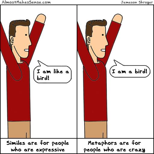 similes metaphorscomparisons