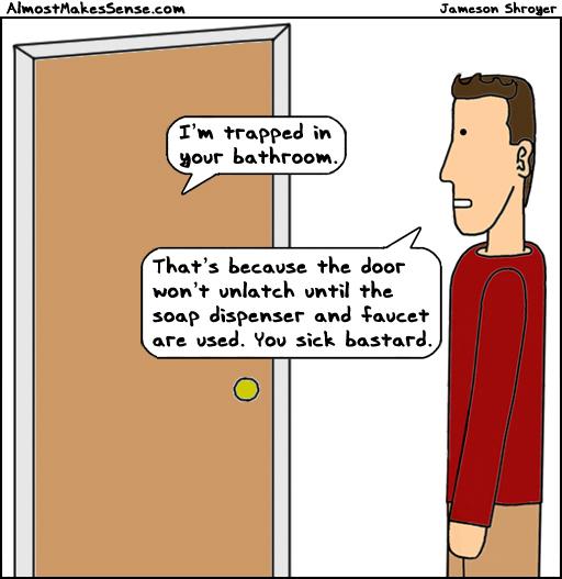 Bathroom Trapped
