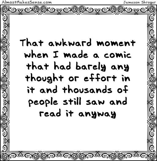 Awkward Moment Comic