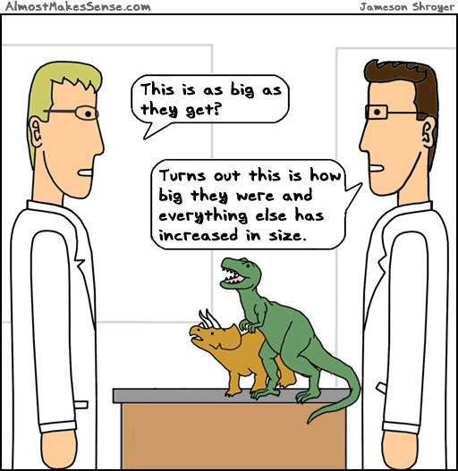 Dinosaurs Increased