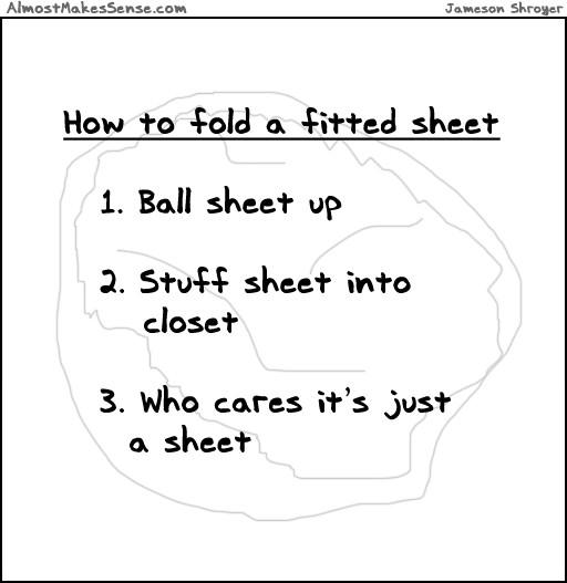 u00bb fold fitted sheet