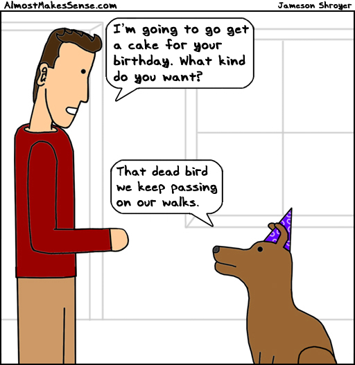 Dog Cake Bird