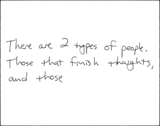 Finish Thoughts