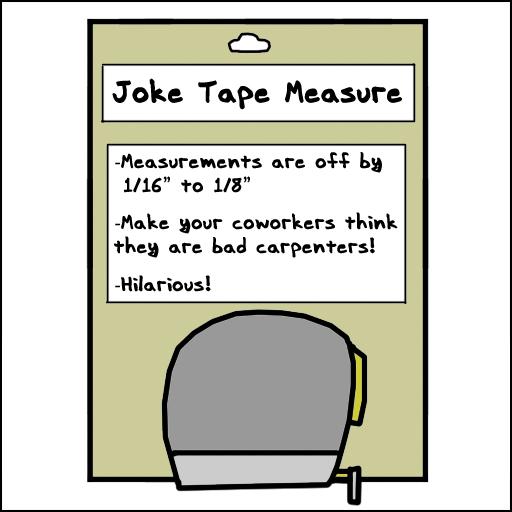 Joke Tape Measure