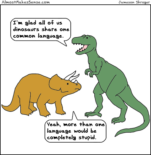 Dinosaurs  Language