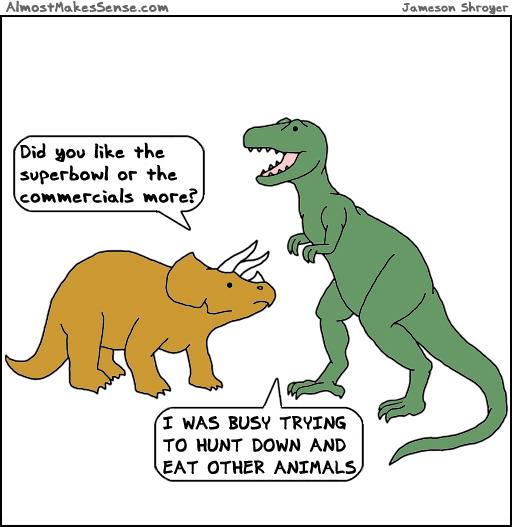 Superbowl Dinosaurs