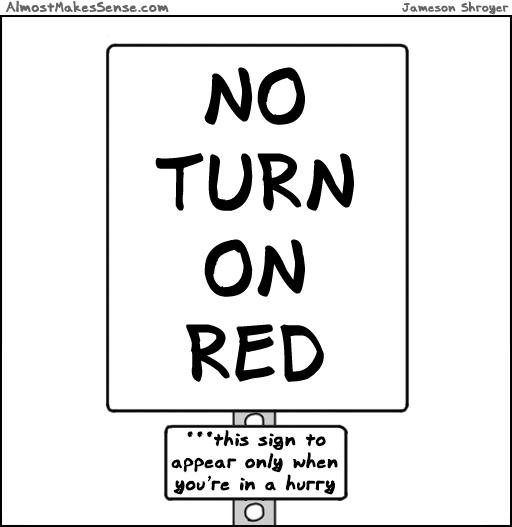 No Turn Appear