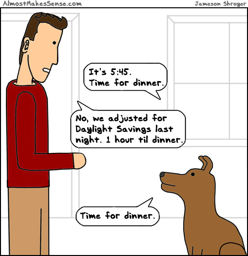Dog Daylight Savings