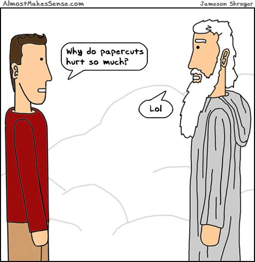 Papercuts God