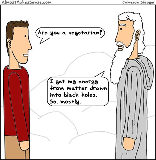 Vegetarian Black Holes