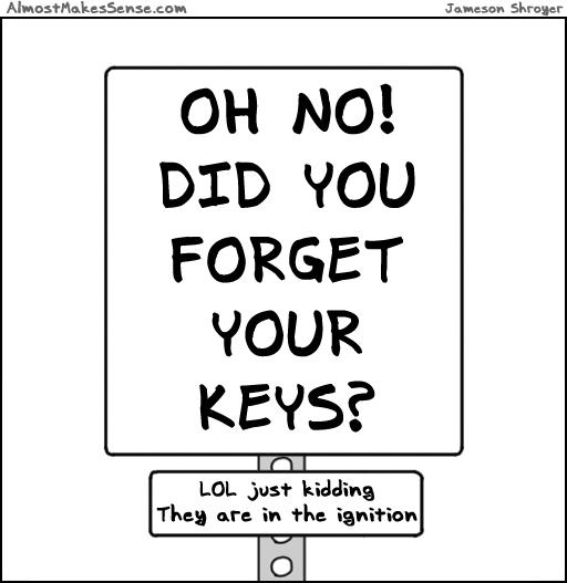 Forget Keys Sign