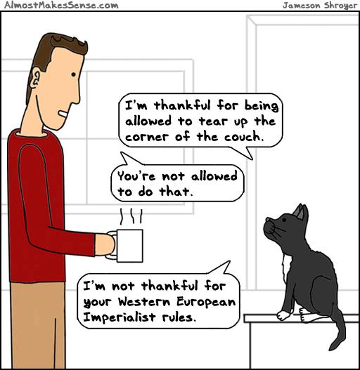 Cat Thankful