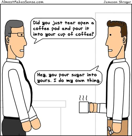 Pour Coffee Pod