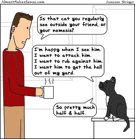 Cat Outside Friend