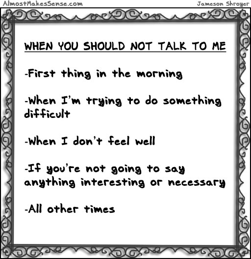 When Not Talk