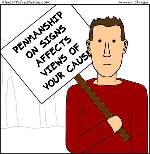 Penmanship Signs