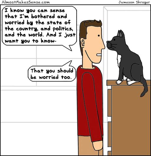 Cat Worried Too