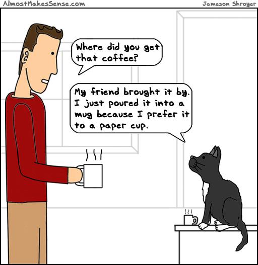 Cat Coffee Friend