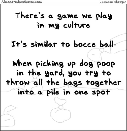 Dog Poop Bocce