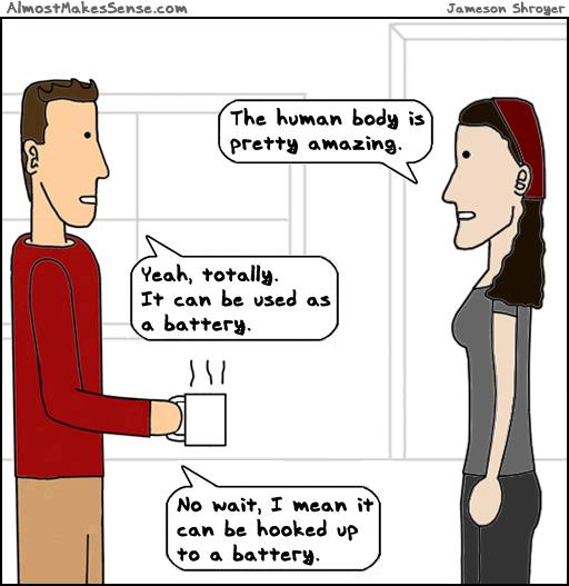 Human Body Battery